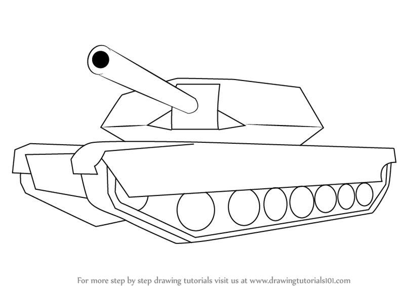 800x565 Learn How To Draw A Simple Tank (Military) Step By Step Drawing
