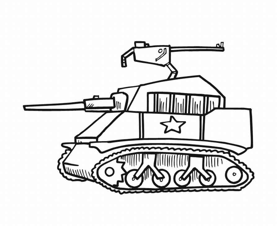 893x727 Tank Coloring Pages