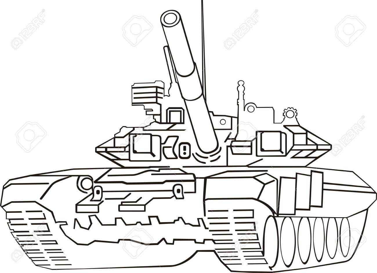 1300x944 Army Tank Royalty Free Cliparts, Vectors, And Stock Illustration