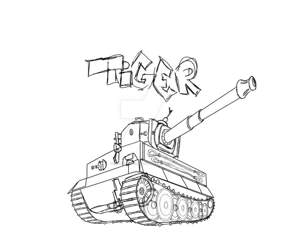 969x825 Tank Tiger By Alpineshark