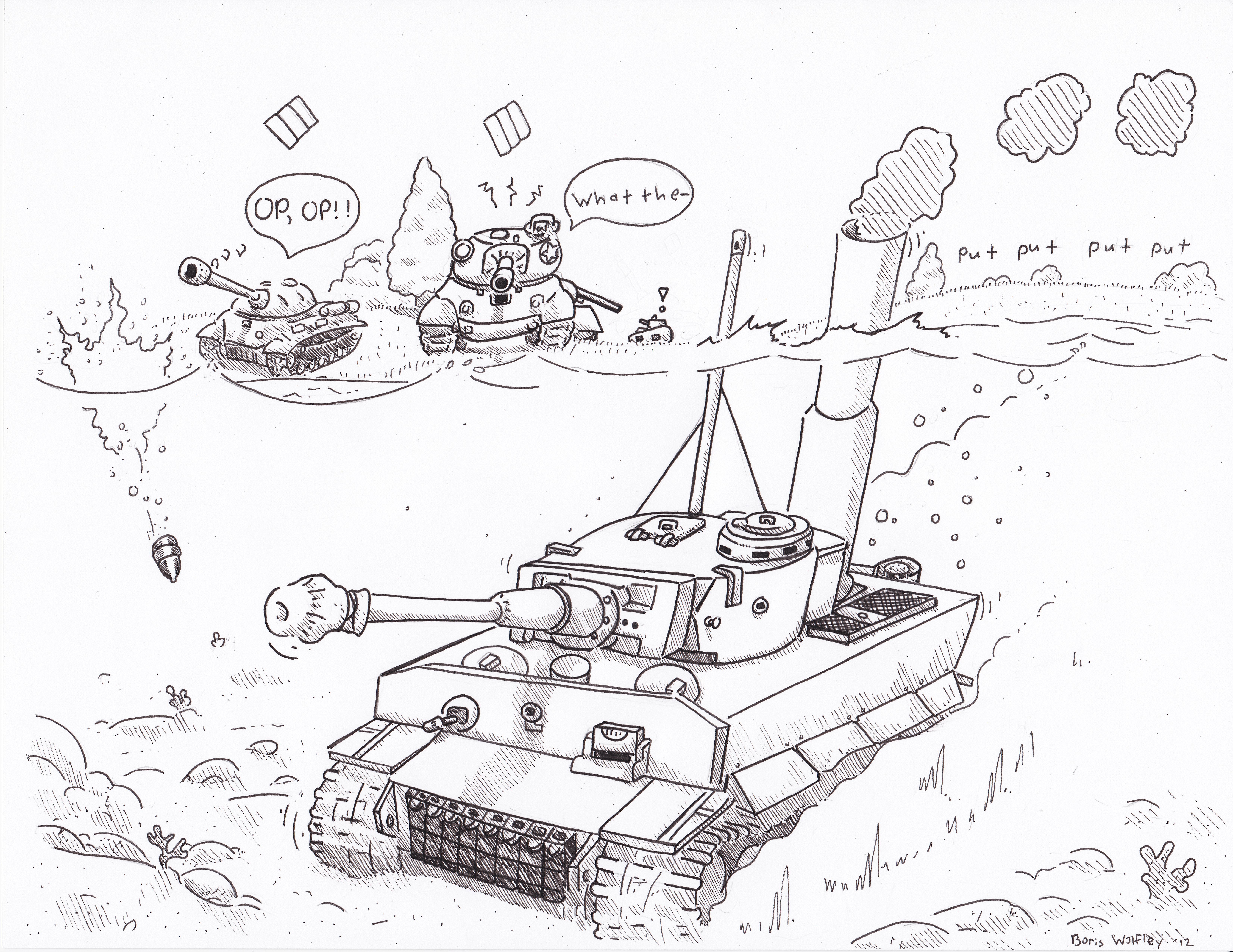 6608x5104 Got Tank By Shank117 A Hand Drawn Sketch An E 100 World