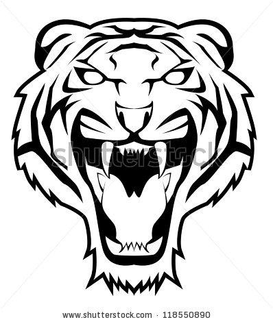 398x470 Drawn Tiger Simple
