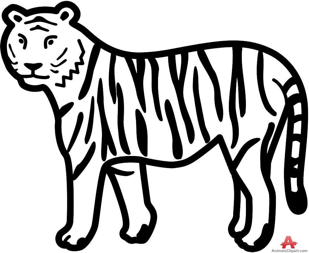 999x819 Tiger Drawing Clipart Amp Tiger Drawing Clip Art Images