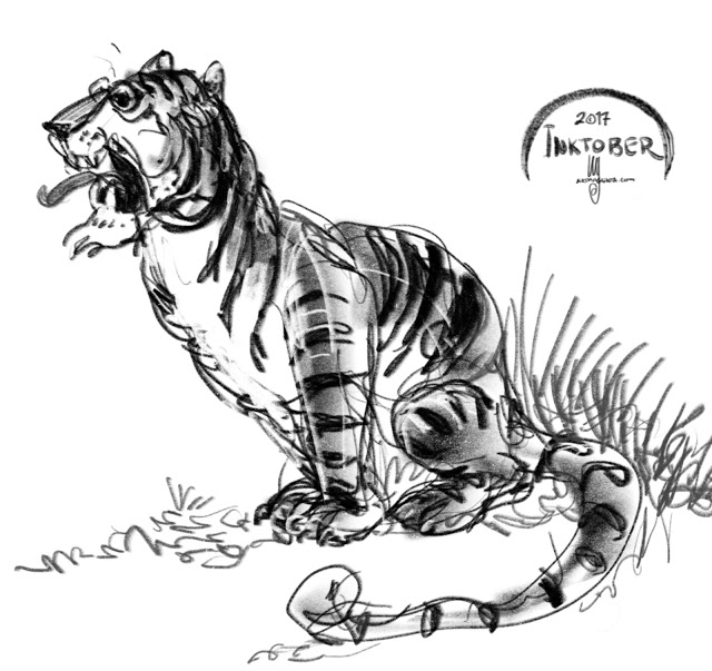 640x603 Tiger Doodle Gesture Drawings Doodles, Tigers