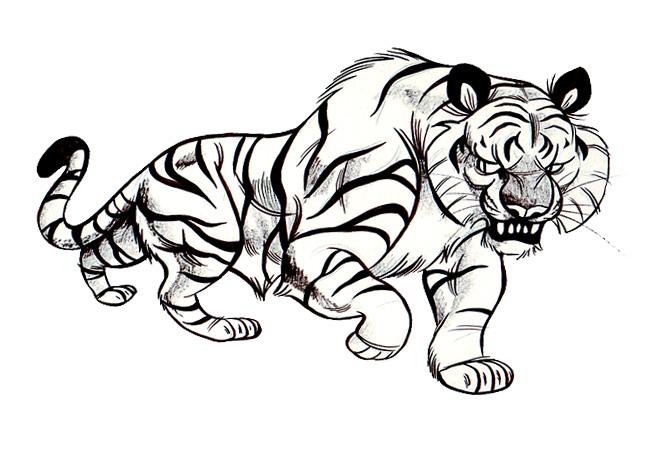 650x453 Big Tiger By Meldraws