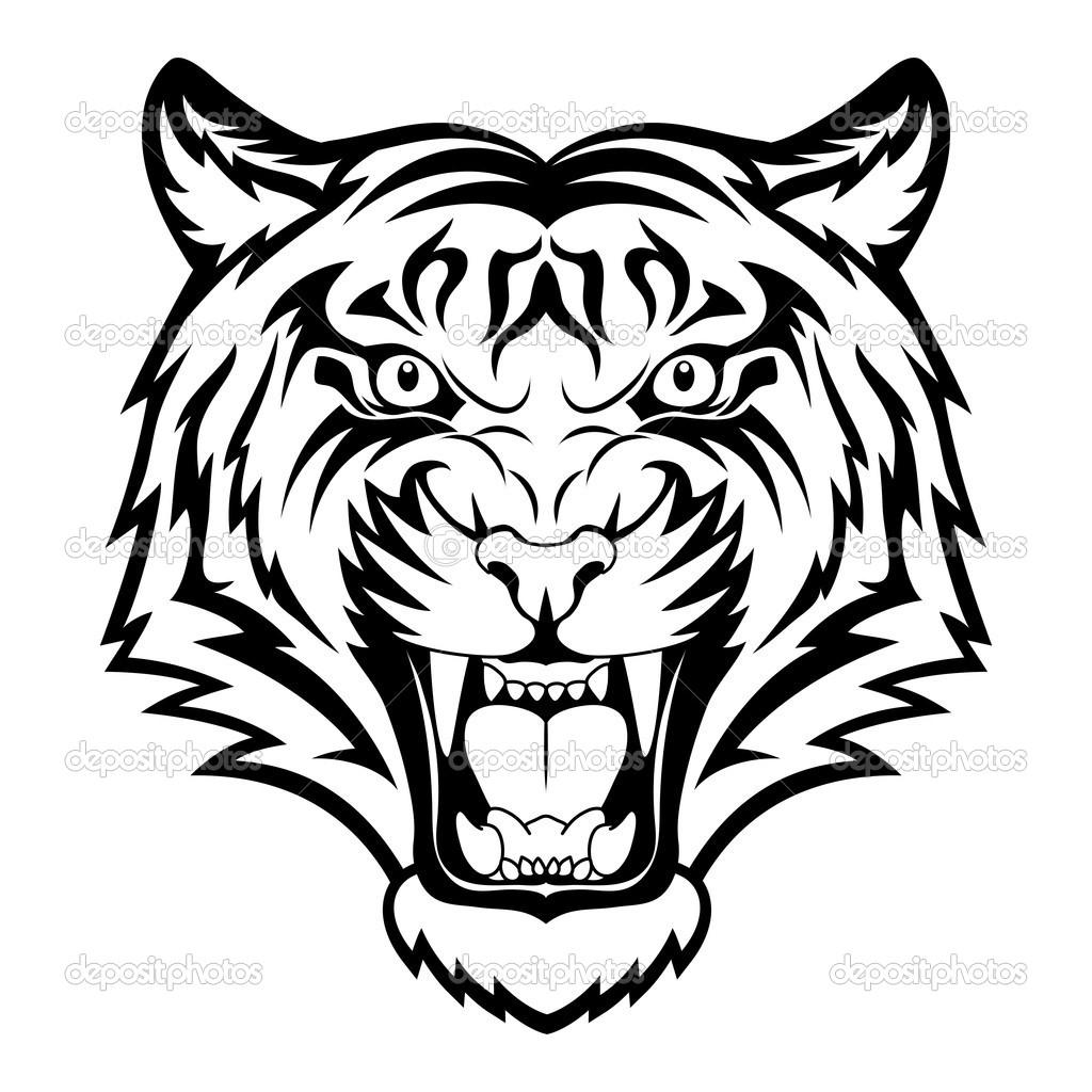 1024x1024 Drawing Tiger Face