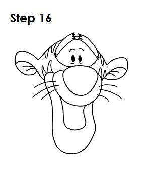 300x388 How To Draw Tigger Drawing Tutorials Tigger