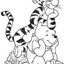 220x220 Winnie In Tigger's House Coloring Pages