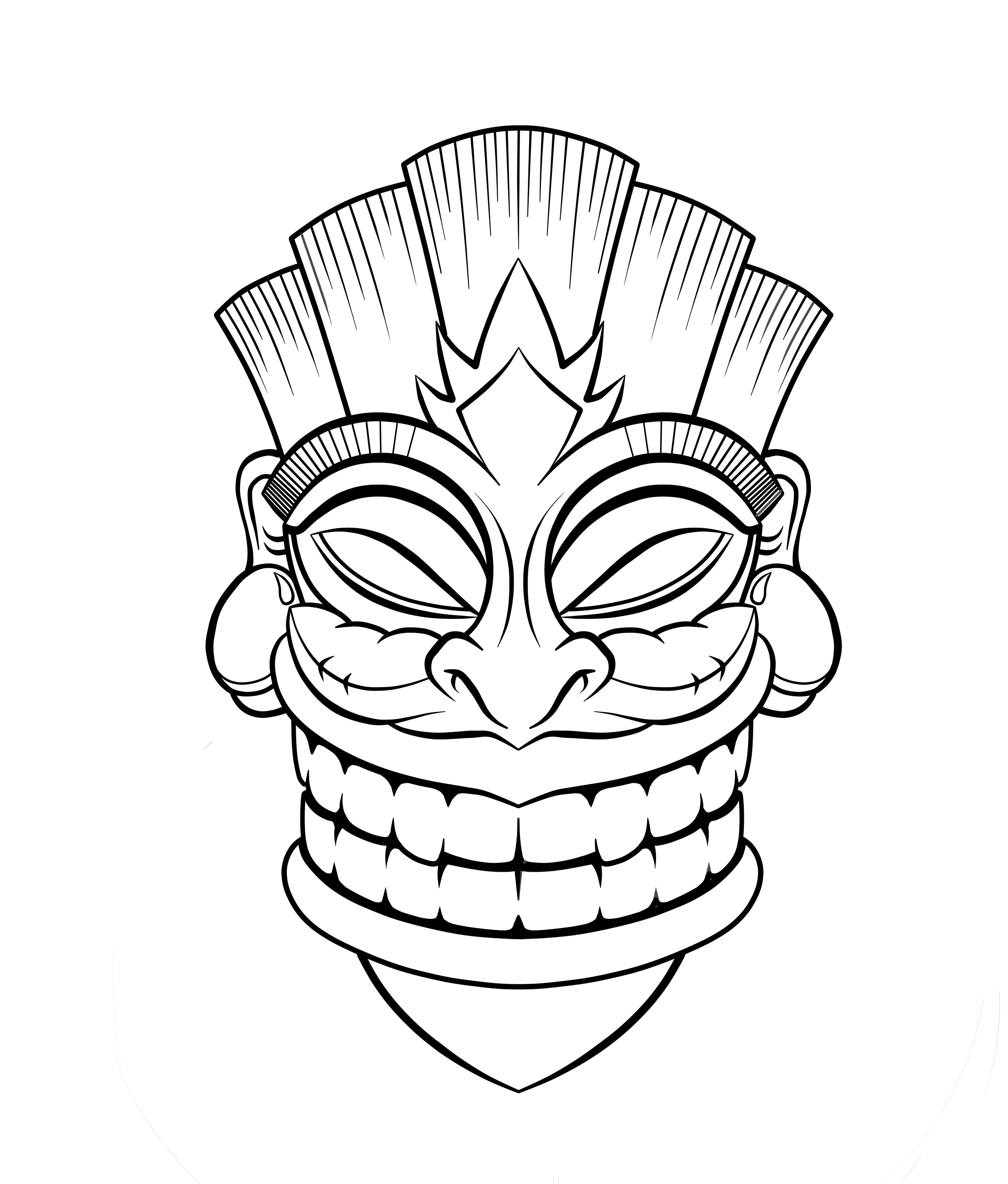 2400x2820 Tiki Mask Colouring Pages Lazy Town Kleurplaten Kleurboek Bedroom