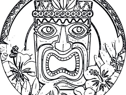 coloring pages of tikis - photo#14
