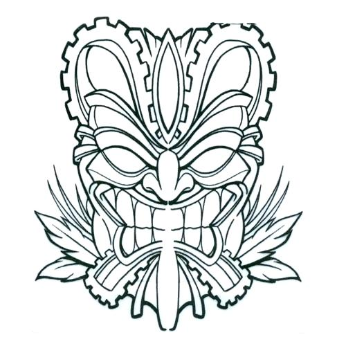 500x500 Tiki Mask Coloring Pages Mask Printable Printable Tiki Mask