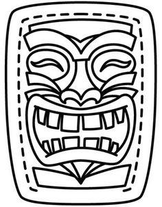 236x302 Tiki Mask Template Printable Tiki Masks Mask