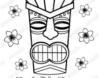 tiki man coloring pages - photo#16