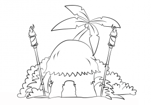 300x208 Creative Tiki Coloring Pages