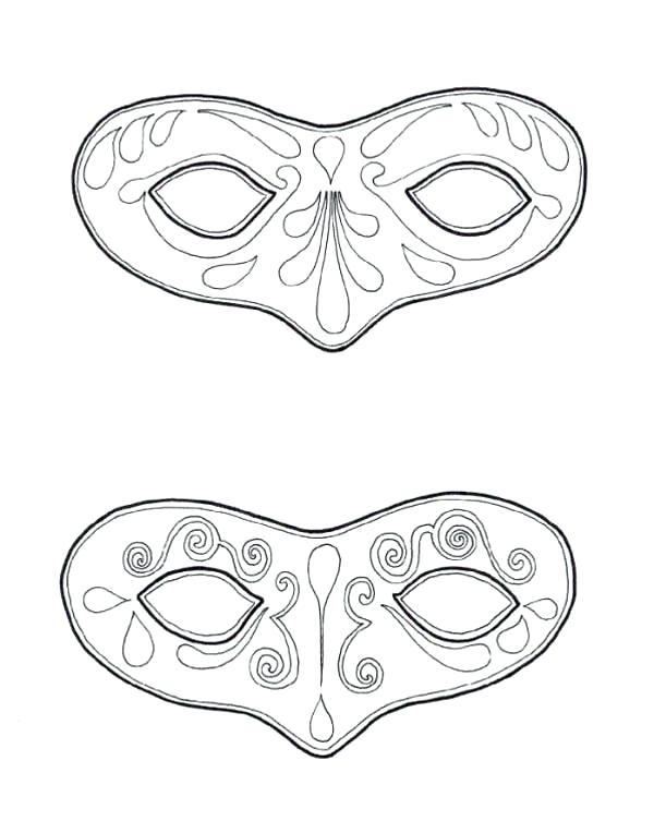 600x753 Mask Coloring Page Couple Of Mask To Wear On Coloring Page Tiki