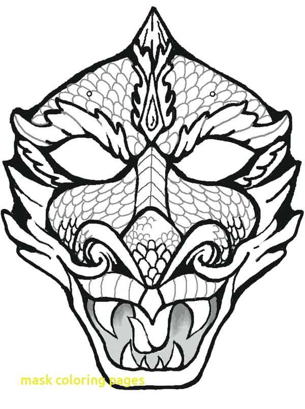 600x806 Mask Coloring Pages