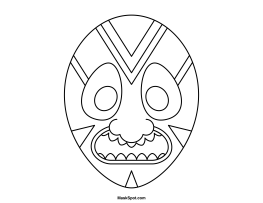 263x203 Printable Tiki Mask
