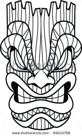 286x470 15 Best Mask Vector Images On Tiki Totem, Masks