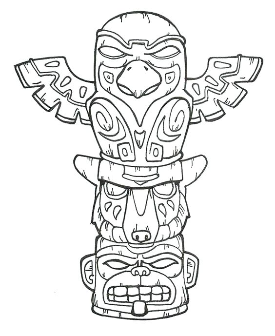 564x689 Tiki Coloring Pages Hawaiian Tiki Coloring Pages Synthesis.site
