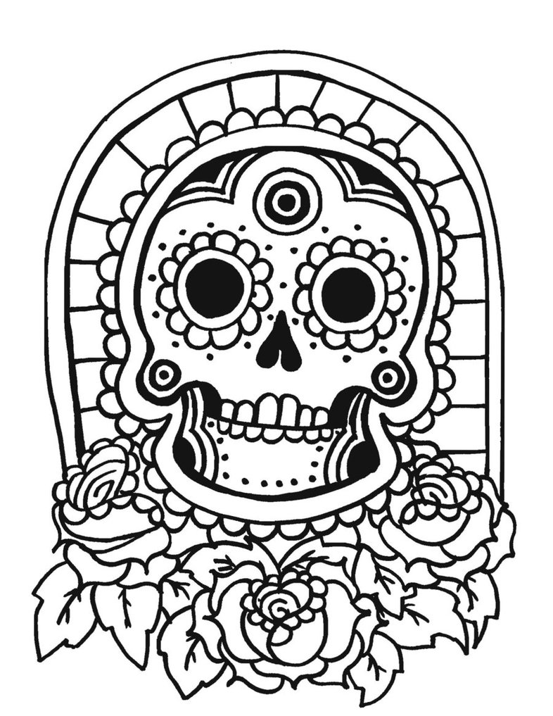 786x1017 Tiki Mask Coloring Page 298846