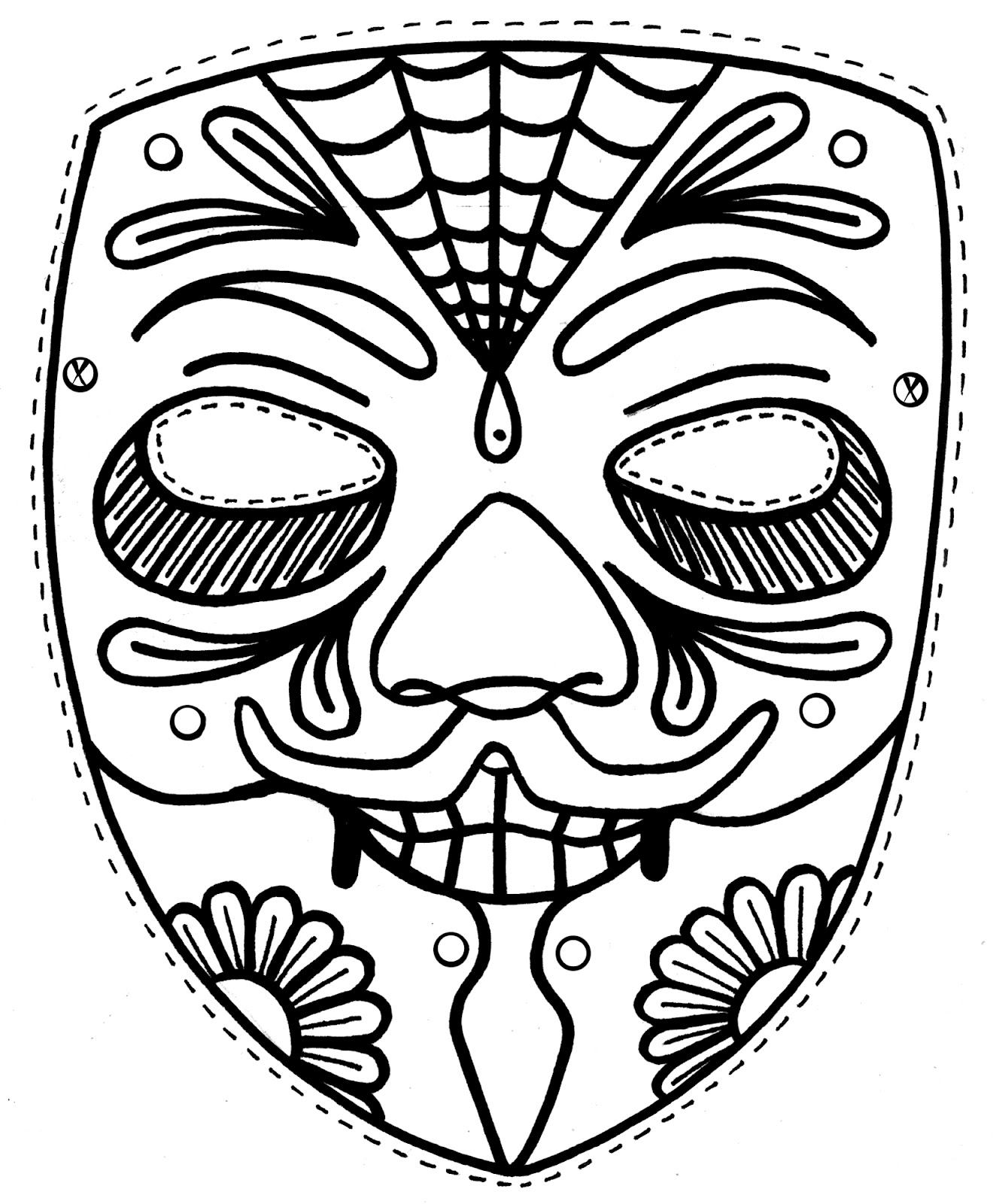 1324x1600 Tiki Mask Coloring Pages