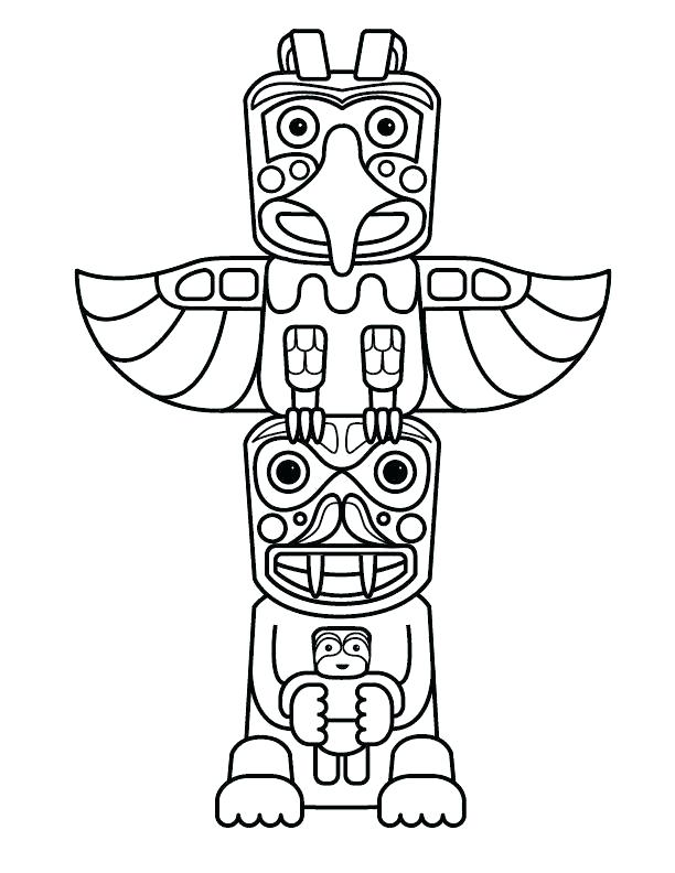 612x792 Tiki Mask Coloring Pages Mask Printable Printable Tiki Mask