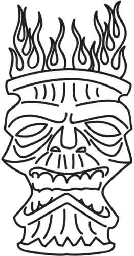 262x500 Tiki Mask Drawings