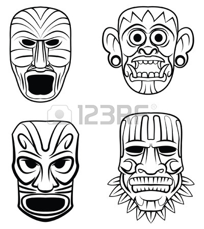400x450 984 Tiki Mask Stock Illustrations, Cliparts And Royalty Free Tiki