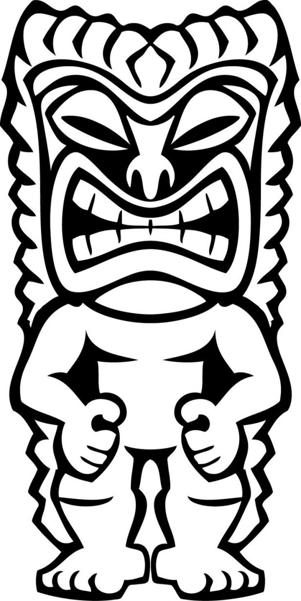 618x1235 Tiki Mask Coloring Pages Hawaii Coloring Pages To Print Printable