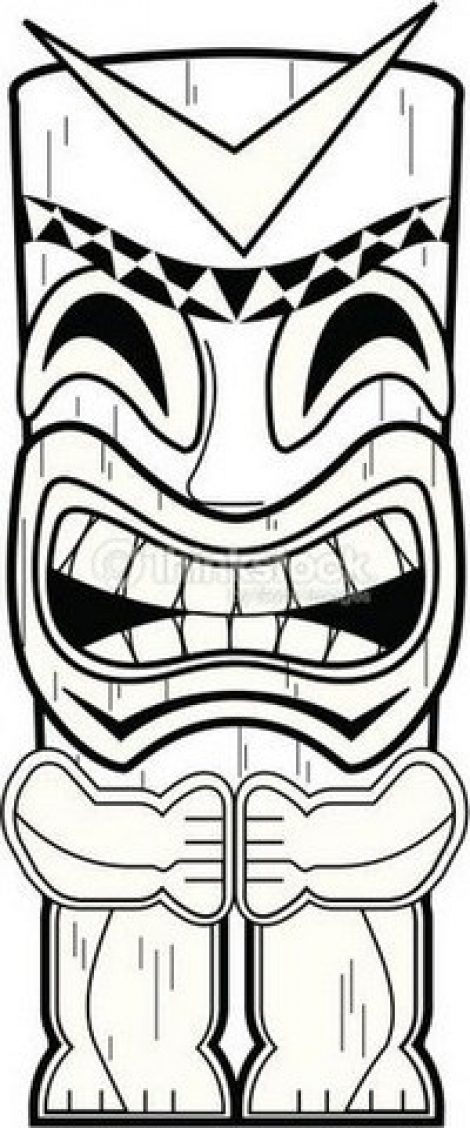 470x1128 Tiki Mask Template Printable Tiki Masks Mask