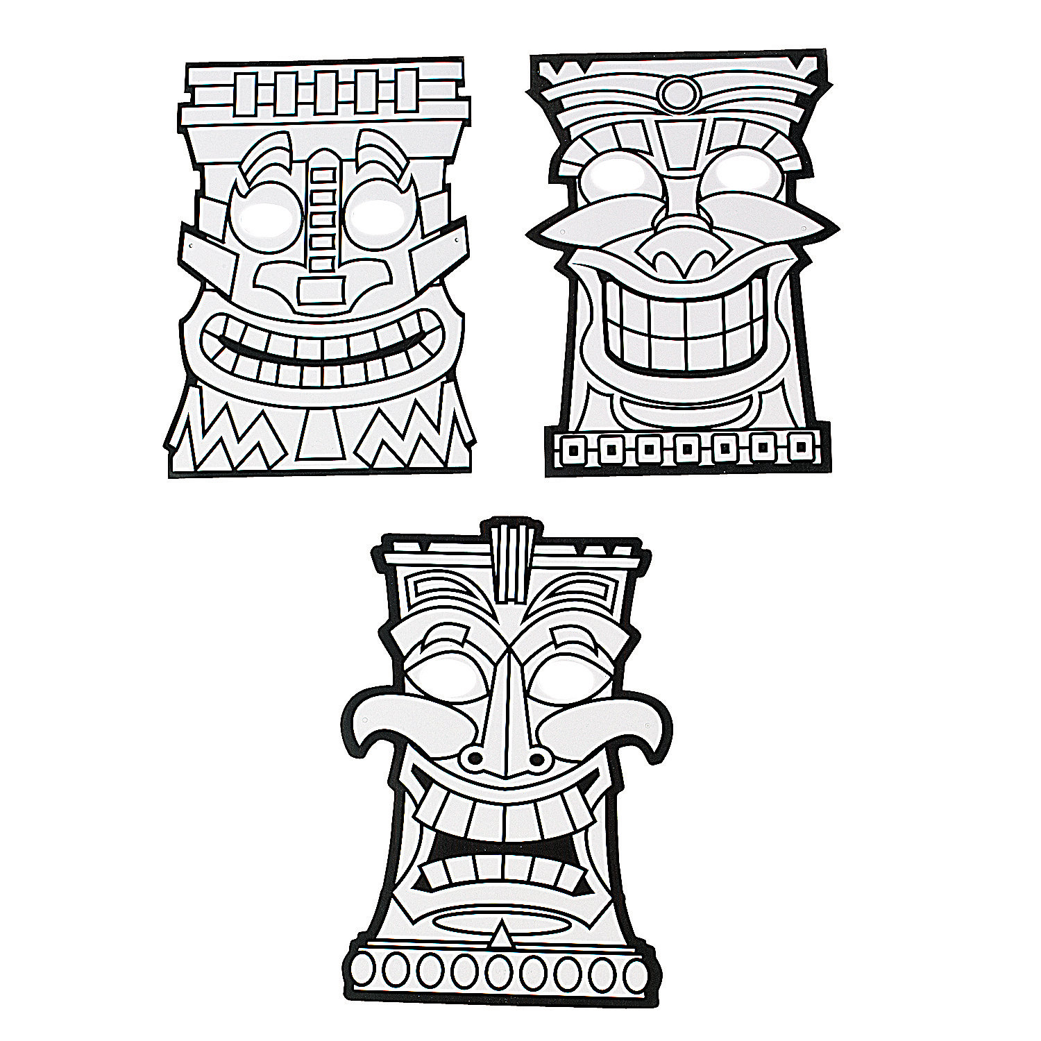 1500x1500 Adult ~ Tiki Coloring Pages Tiki Mask Totem Pole Dk For Kids Dk