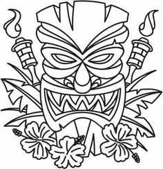 236x245 Best Photos Of Hawaiian Mask Template Printable Tiki Mask