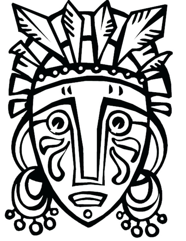 600x777 Hawaiian Tiki Mask Coloring Pages Best Video Games Images