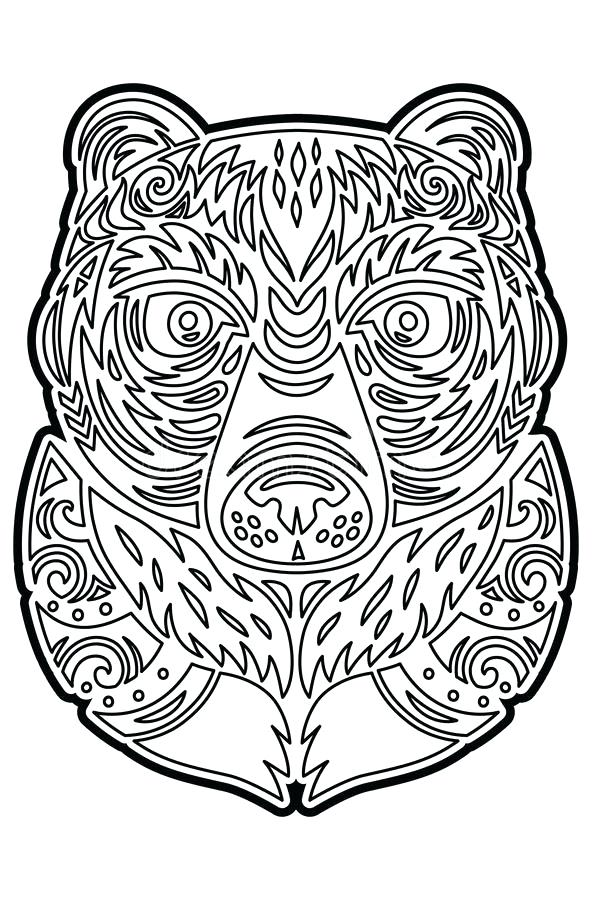 592x900 Hawaiian Tiki Masks Coloring Pages Mask To Print Fancy Best