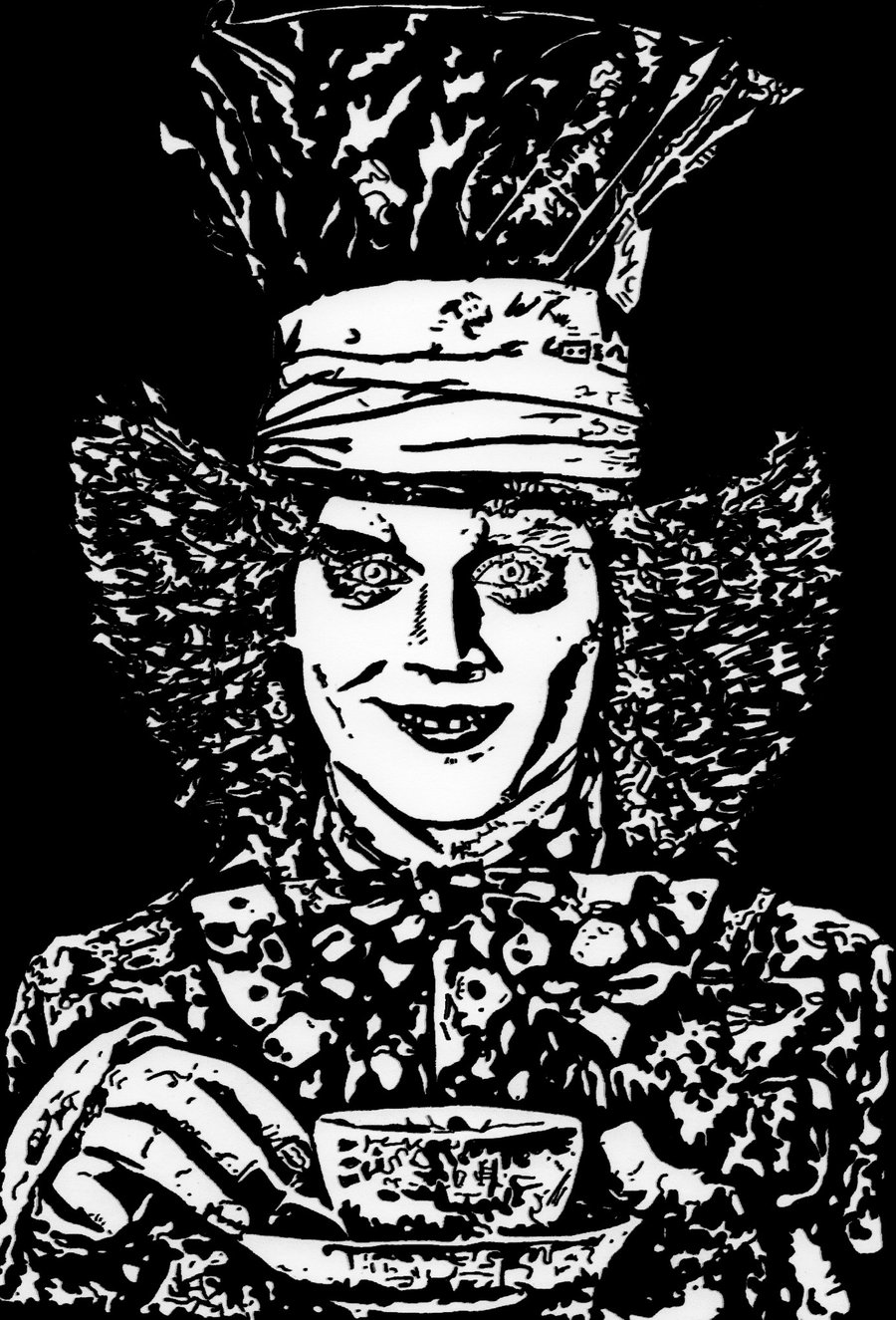 900x1325 Johnny Depp As The Mad Hatter. By Ladyjart
