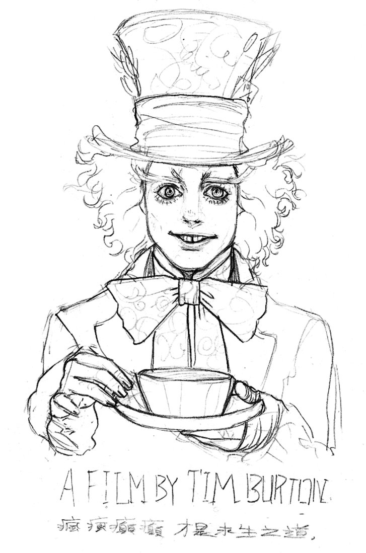 727x1099 Mad Hatter By Wortcat