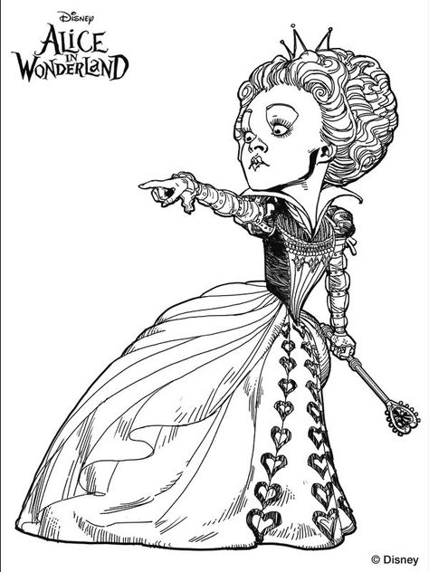 474x632 Tim Burton's Alice In Wonderland Coloring Page. We'Re All Mad