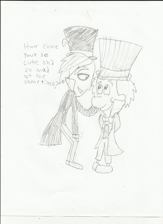 1024x1408 Tim Burton's Madhatter Meets Disney's Madhatter By Cartooncrv