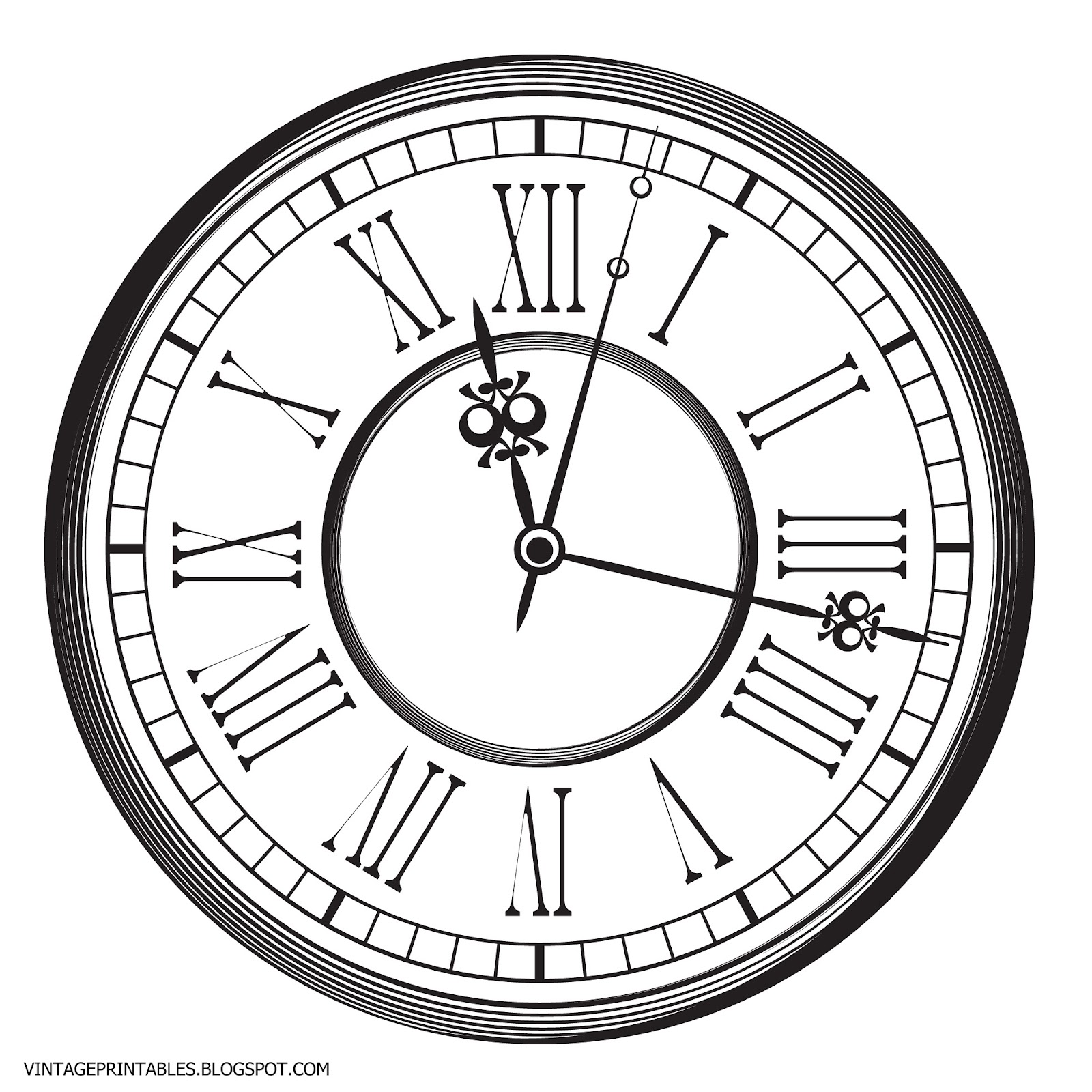 1600x1600 Free Vintage Clip Art Images Old Antique Clock Free Clip Art
