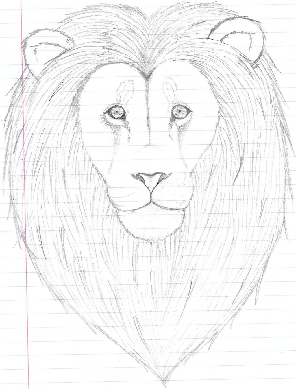 1024x1345 First Time Drawing A Lion =3 By Usagi Chan1000