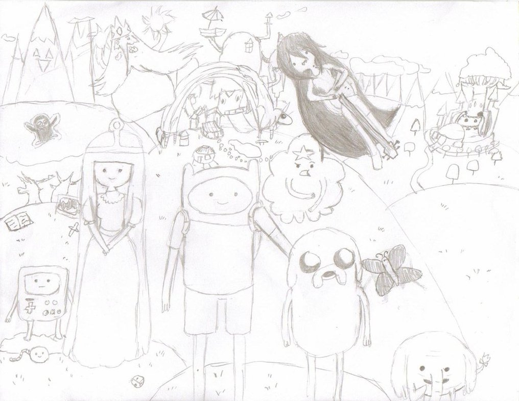 1016x786 Adventure Time Epic Drawing! By Party P
