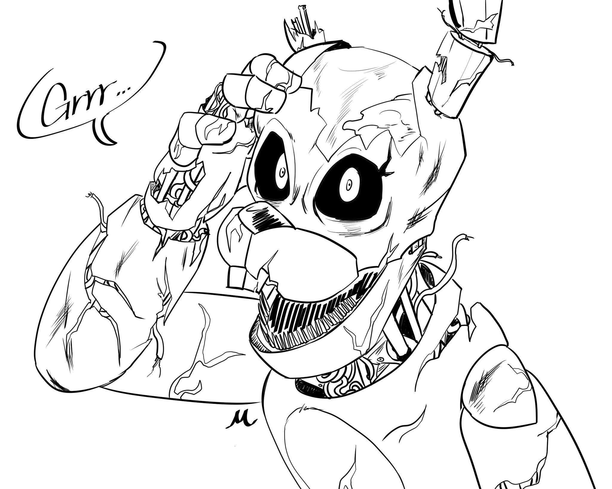 2048x1638 Drawing Springtrap For The First Time Fivenightsatfreddys