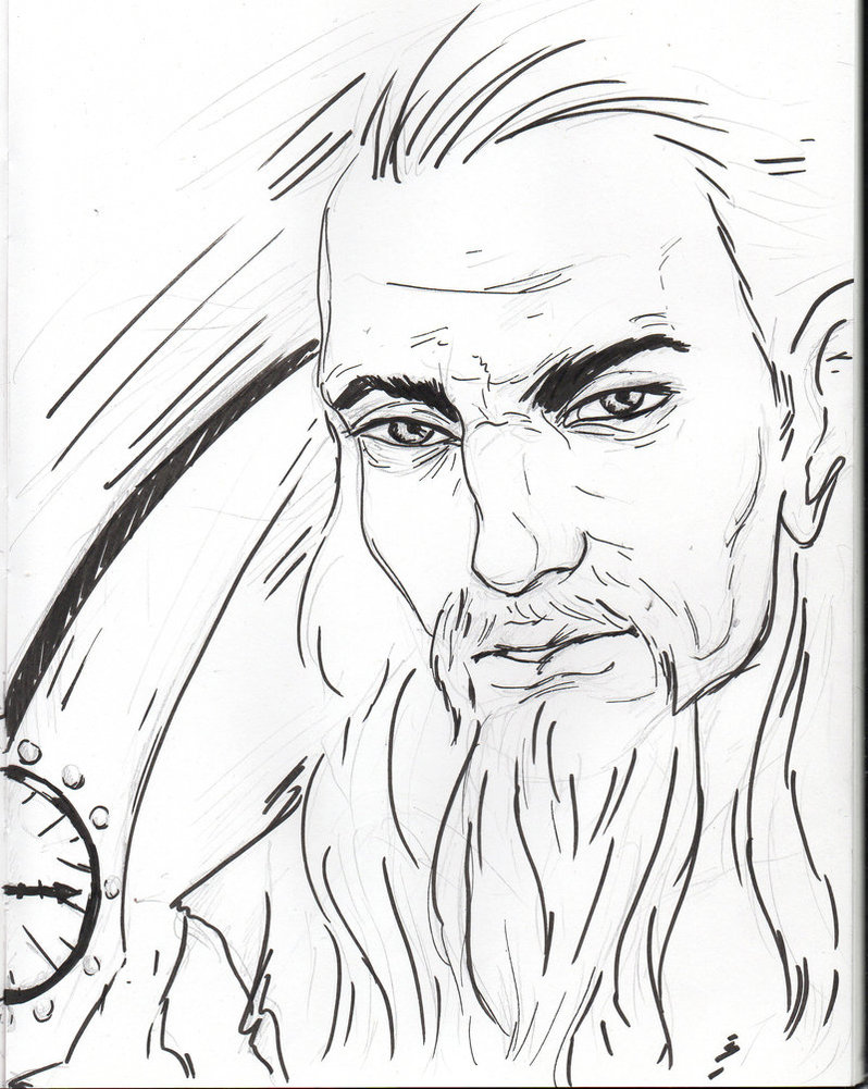 798x1001 Father Time (Daily Sketch Challenge) By Theelfknownaserinlee