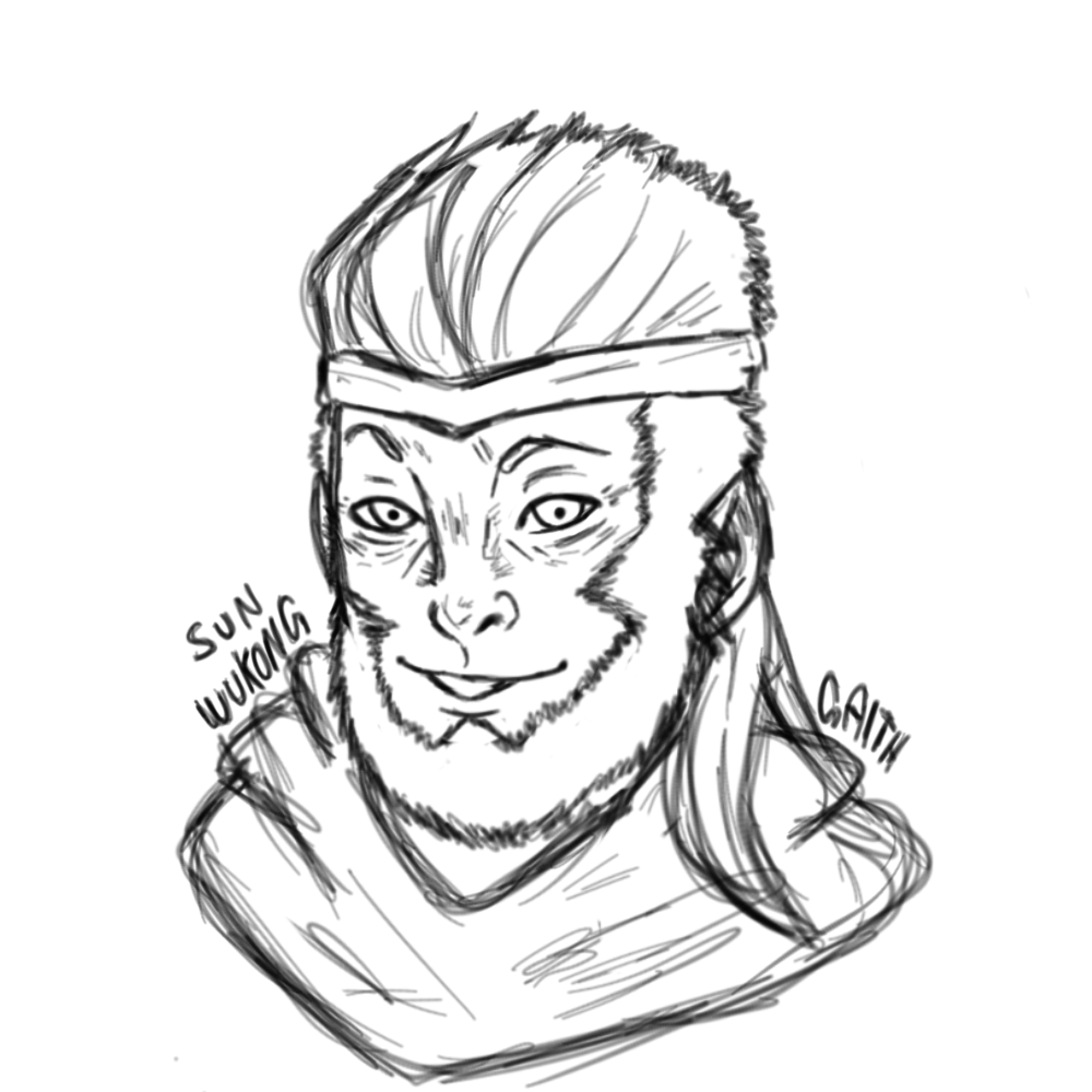 1000x1000 First Time Drawing Sun Wukong Paragon