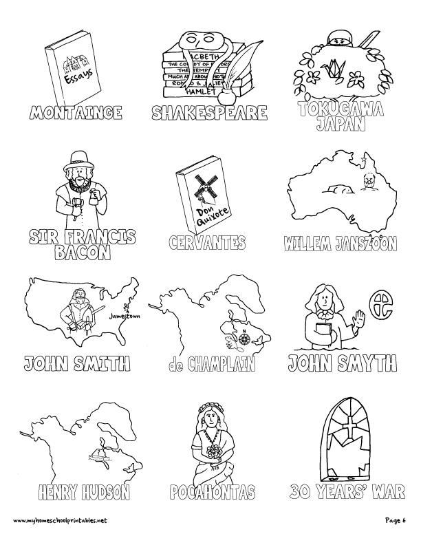 612x792 My Homeschool Printables Timeline Figures Volume 3