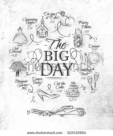 393x470 Timeline Invitation Wedding Theme Drawing With Black Ink