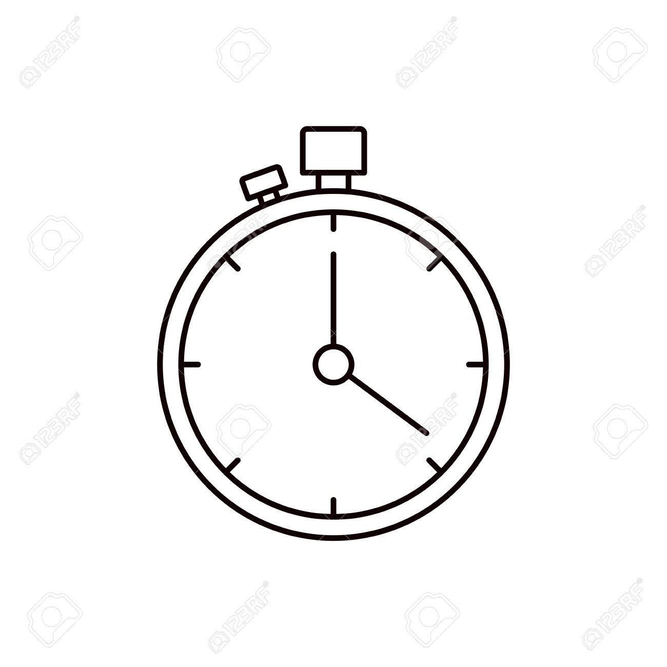 1300x1300 Sketch Silhouette Stopwatch With Timer Vector Illustration Royalty