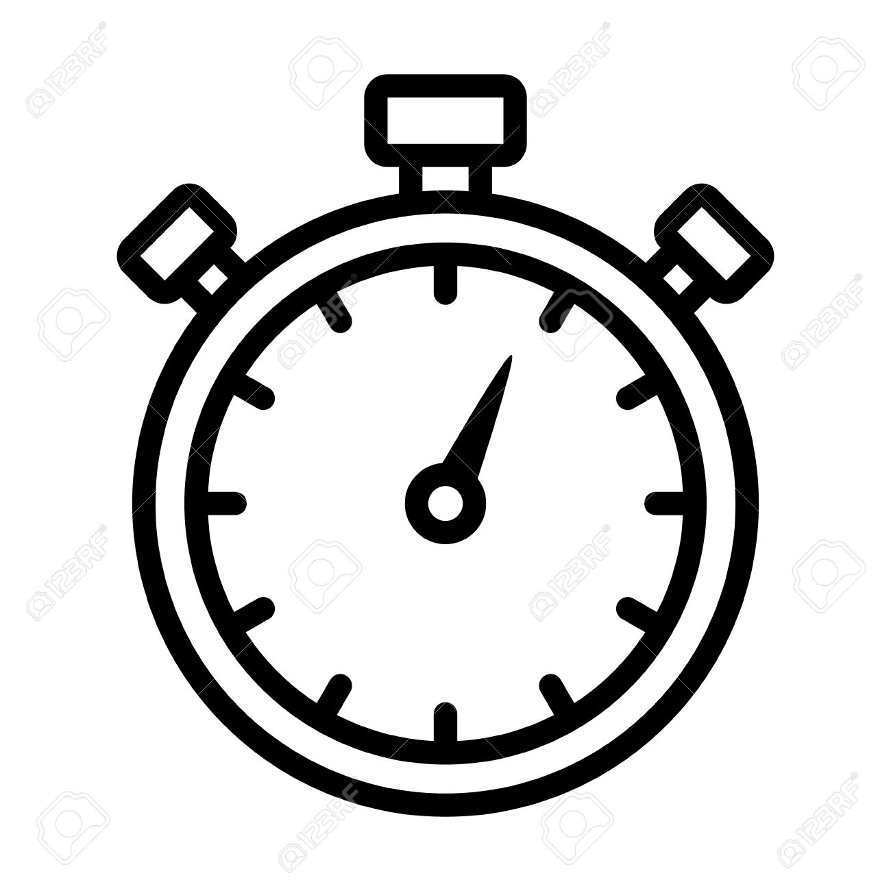 1300x1300 Stopwatch Timer Line Art Icon For Apps And Websites Royalty Free
