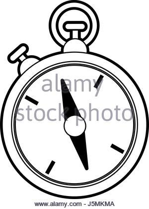 300x420 Stopwatch Or Timer Sketch. Vector Stock Vector Art Amp Illustration
