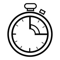 200x200 Timer Icon Vector Image